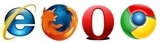 IE Firefox Opera Chrome